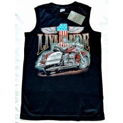 Tričko bez rukávu - HD 1 motorka