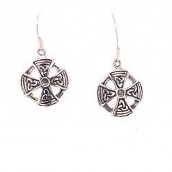 Náušnice stříbrné  - Keltský kříž