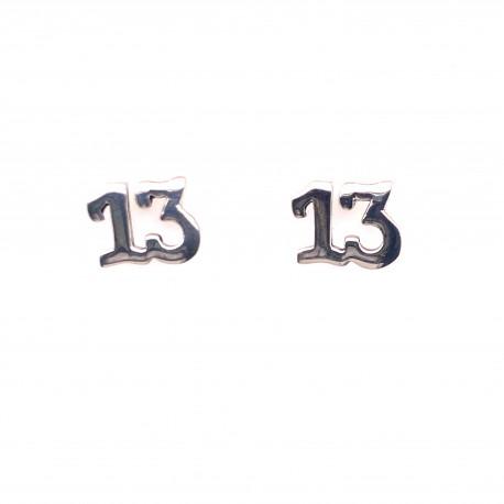 Náušnice stříbrné  - 13