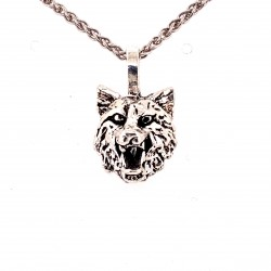 Přívěsek  stříbrný  - Vlk reliéf