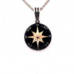 Přívěsek  stříbrný  - Kompas