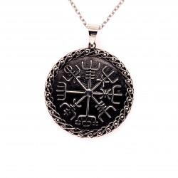 Přívěsek  stříbrný  - Vegvisir runový kompas