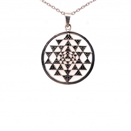 Přívěsek  stříbrný  - Mandala Shri Yantra