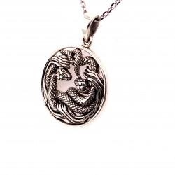 Přívěsek  stříbrný  - Klubko hadů