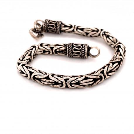 Náramek  stříbrný  - Královský vzor