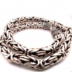 Řetízek  stříbrný  - Královský vzor 11