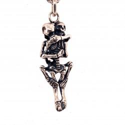 Přívěsek  stříbrný  - Kostřičky do mrtva