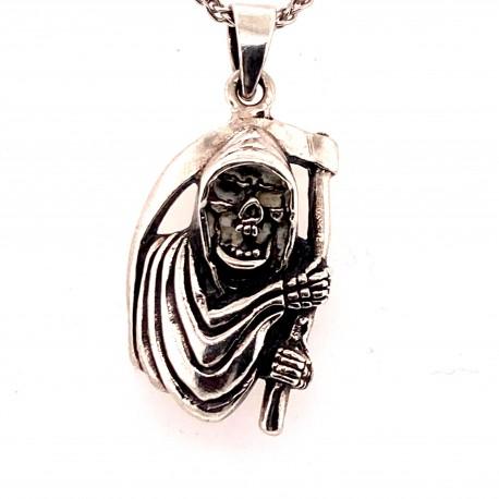 Přívěsek  stříbrný  - Smrťák s kosou