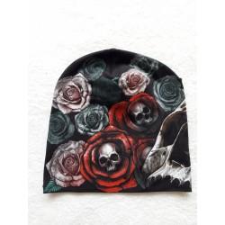Čepice - růže lebky