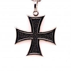 Přívěsek  stříbrný  - Kříž maltézský