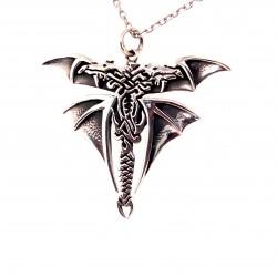 Přívěsek  stříbrný  - Dračí křídla