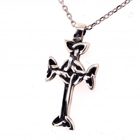 Přívěsek  stříbrný  - Křížek keltský