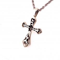Přívěsek  stříbrný  - Kříž plameny