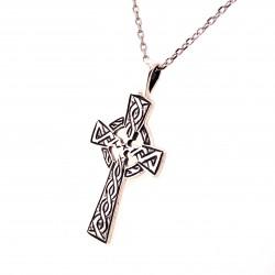 Přívěsek  stříbrný  - Kříž keltský s kruhem