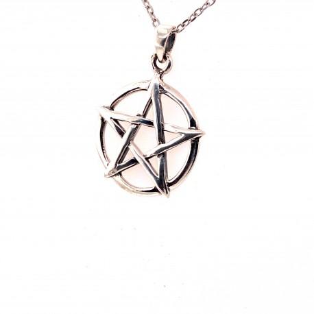 Přívěsek  stříbrný  - Pentagram